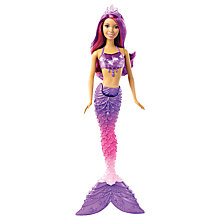 Buy Barbie Mermaid Gem Doll Online at johnlewis.com