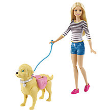 Buy Barbie Puppy Walking and Potty Training Doll Online at johnlewis.com