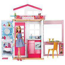 Buy Barbie Two Storey House & Doll Online at johnlewis.com