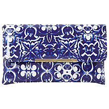 Buy Dune Billow Clutch Bag, Blue Online at johnlewis.com