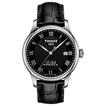 Buy Tissot T0064071605300 Men's Le Locle Date Leather Strap Watch, Black Online at johnlewis.com