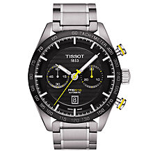 Buy Tissot T1004271105100 Men's PRS 516 Automatic Chronograph Date Bracelet Strap Watch, Silver/Black Online at johnlewis.com