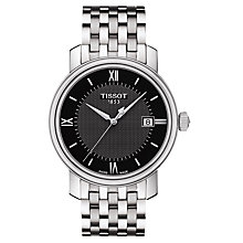 Buy Tissot T0974101105800 Men's Bridgeport Date Bracelet Strap Watch, Silver/Black Online at johnlewis.com