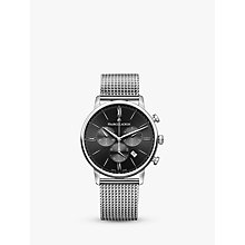 Buy Maurice Lacroix EL1098-SS002-310-1 Men's Eliros Chronograph Date Bracelet Strap Watch, Silver/Black Online at johnlewis.com