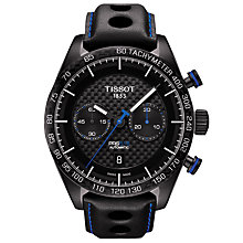Buy Tissot T1004273620100 Men's PRS 516 Automatic Chronograph Date Leather Strap Watch, Black Online at johnlewis.com