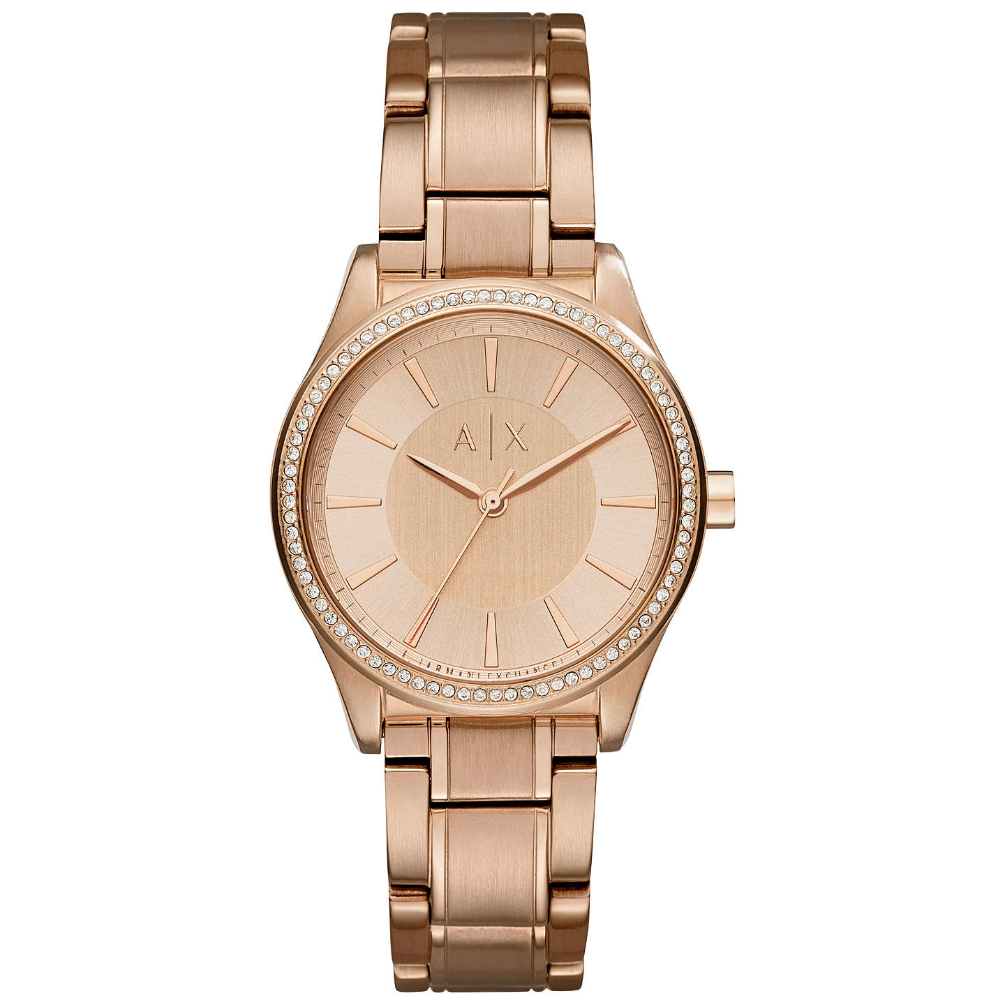 rose swarovski watch tone india amazon women set bangle watches buy dp crystal prices anne bracelet klein and at s low ak accented gold online in