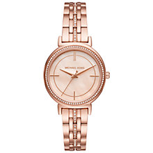 Buy Michael Kors MK3643 Women's Cinthia Crystal Bracelet Strap Watch, Rose Gold Online at johnlewis.com