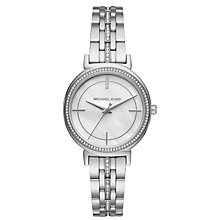 Buy Michael Kors MK3641 Women's Cinthia Crystal Bracelet Strap Watch, Silver Online at johnlewis.com