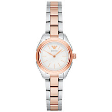 Buy Emporio Armani AR11029 Women's Bracelet Strap Watch, Silver/Rose Gold Online at johnlewis.com