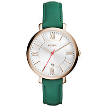 Buy Fossil Women's Jacqueline Date Leather Strap Watch Online at johnlewis.com
