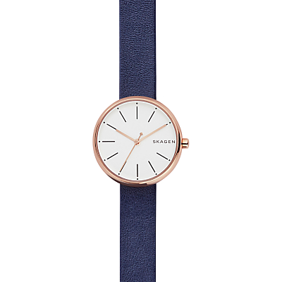Skagen Women's Signatur Leather Strap Watch