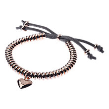 Buy Adele Marie Heart Adjustable Bracelet, Silver Online at johnlewis.com