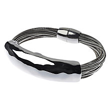 Buy Adele Marie Multi Row Bar Spring Bracelet, Silver Online at johnlewis.com