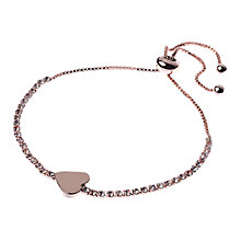 Buy Adele Marie Crystal Heart Charm Adjustable Bracelet Online at johnlewis.com