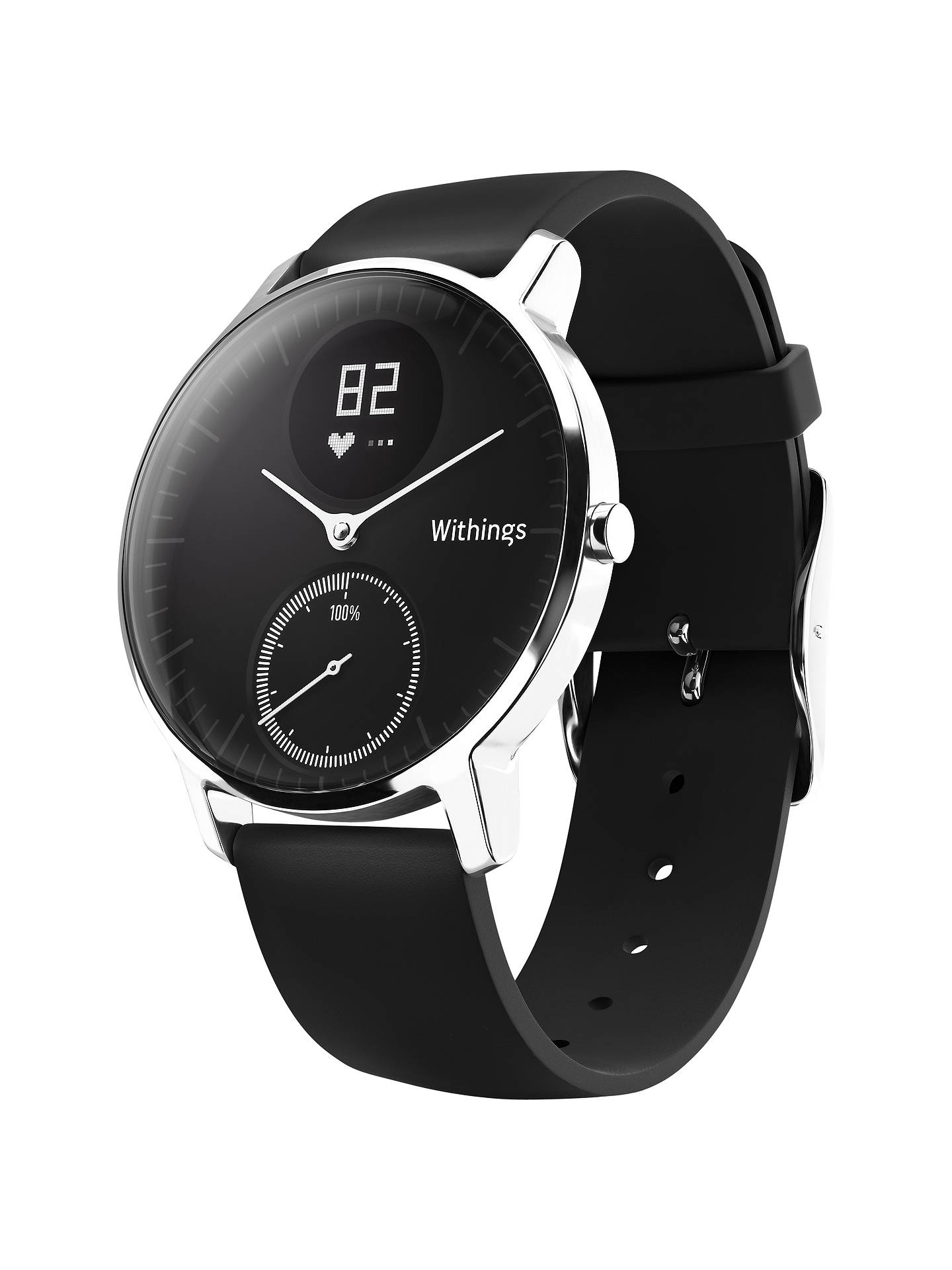 BuyWithings Steel HR Activity Tracking Watch, 36mm, Black/Black Online at johnlewis.com