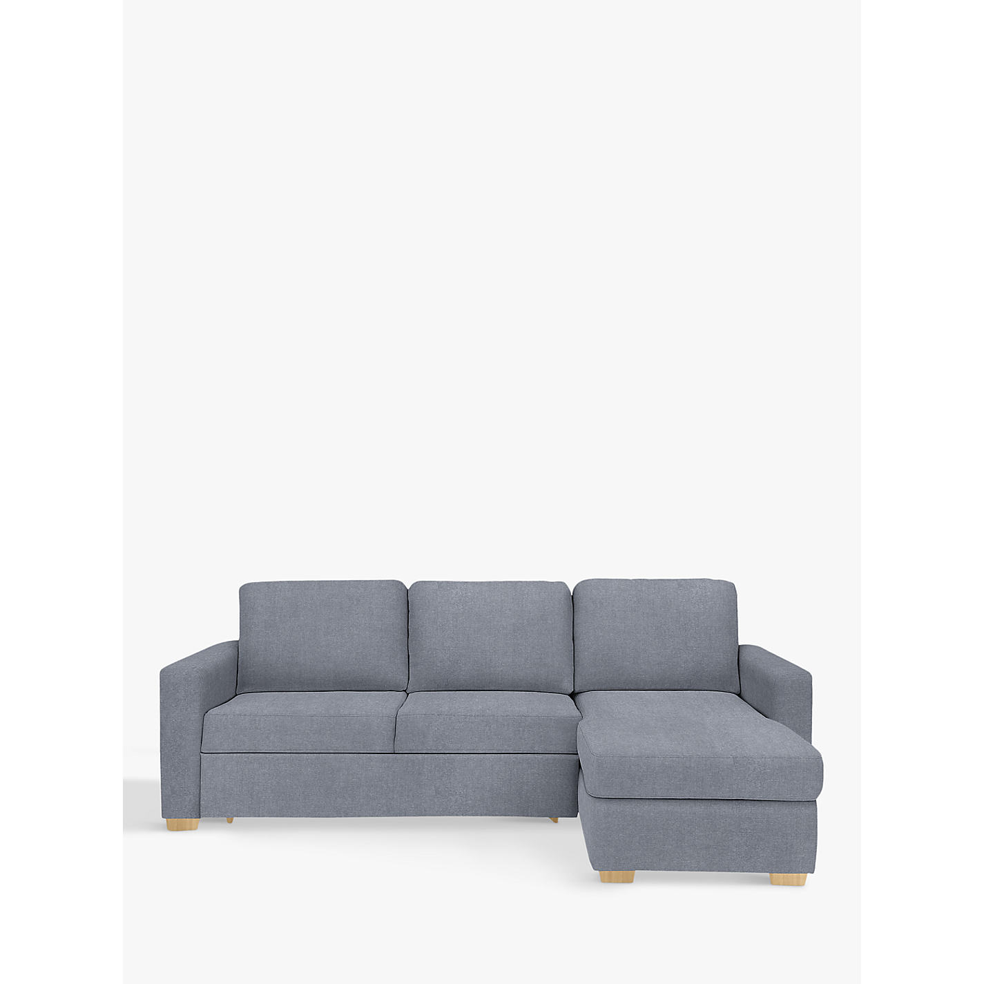 Buy John Lewis Sacha Large Sofa Bed with Foam Mattress, Light Leg, Erin Grey