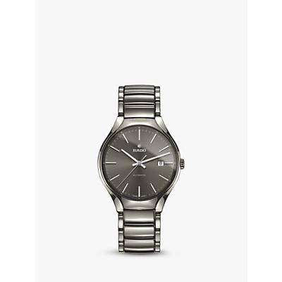 Rado R27057112 Unisex True Date Automatic Ceramic Bracelet Strap Watch, Gunmetal/Grey