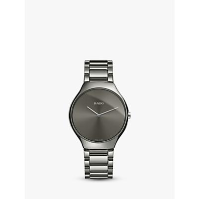 Rado R27955122 Unisex True Thinline Ceramic Bracelet Strap Watch, Gunmetal