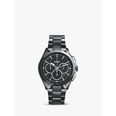 Rado R32118102 Unisex Hyperchrome Chronograph Date Bi-Material Bracelet Strap Watch, Black