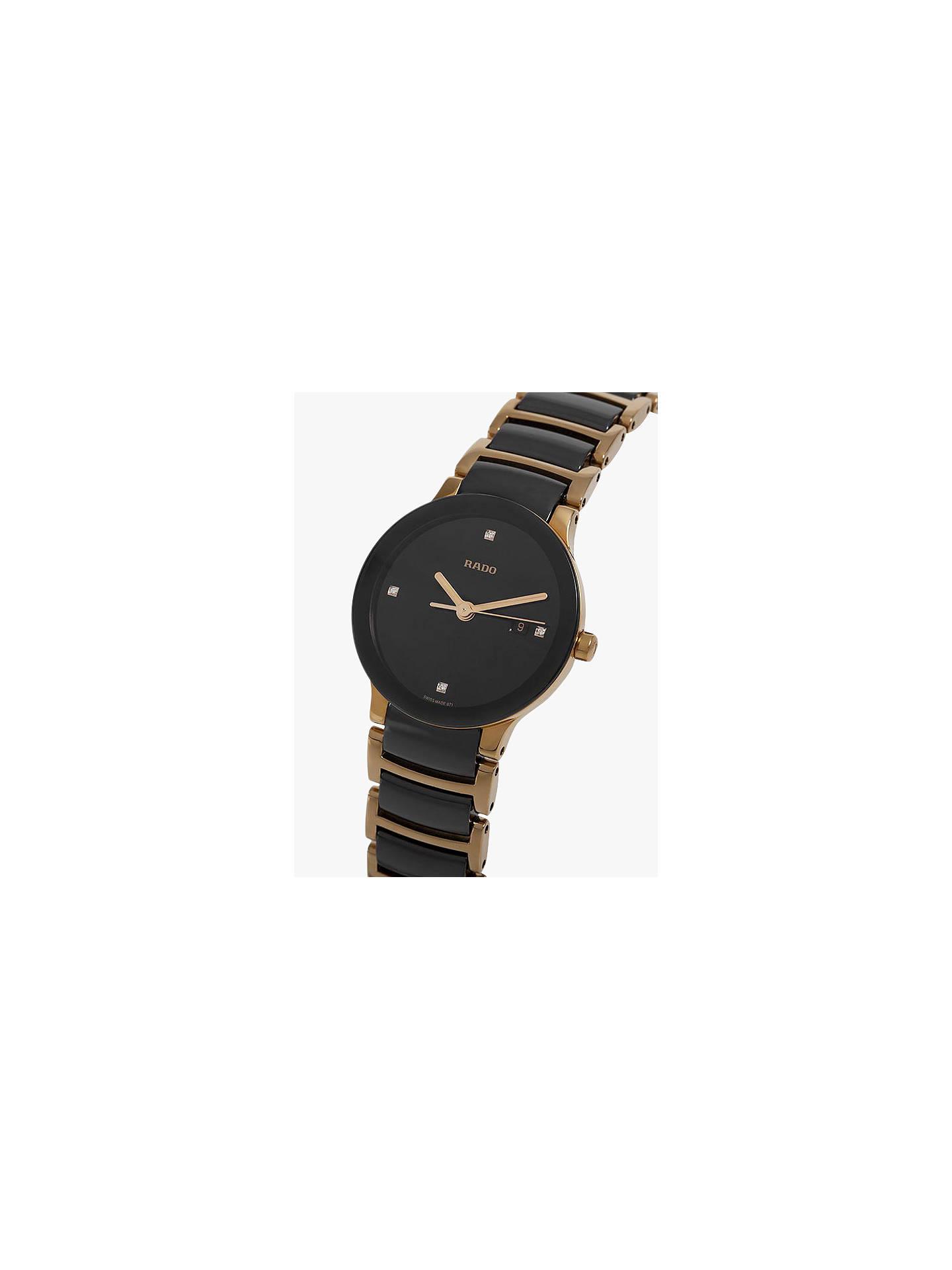 633cf7141 ... Buy Rado R30930712 Women's Centrix Jubile Diamond Bi-Material Bracelet  Strap Watch, Gold/ ...