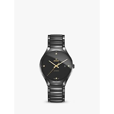 Rado R27056712 Unisex True Diamond Ceramic Bracelet Strap Watch, Black