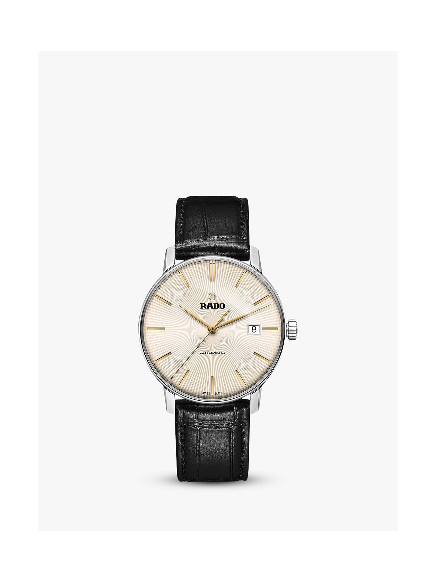 8508de9a01e Buy Rado R22860105 Men s Coupole Classic Date Automatic Leather Strap  Watch