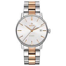 Buy Rado R22860022 Unisex Coupole Classic Automatic Date Two Tone Bracelet Strap Watch, Silver/Rose Gold Online at johnlewis.com