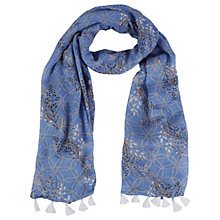 Buy White Stuff Fleur Scarf, Petunia Blue Online at johnlewis.com