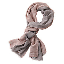 Buy Betty & Co. Double Faced Scarf, Silver/Apricot Online at johnlewis.com