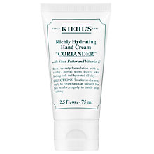 Buy Kiehl's Richly Hydrating Hand Cream, Coriander, 75ml Online at johnlewis.com