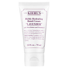 Buy Kiehl's Richly Hydrating Hand Cream, Lavender, 75ml Online at johnlewis.com