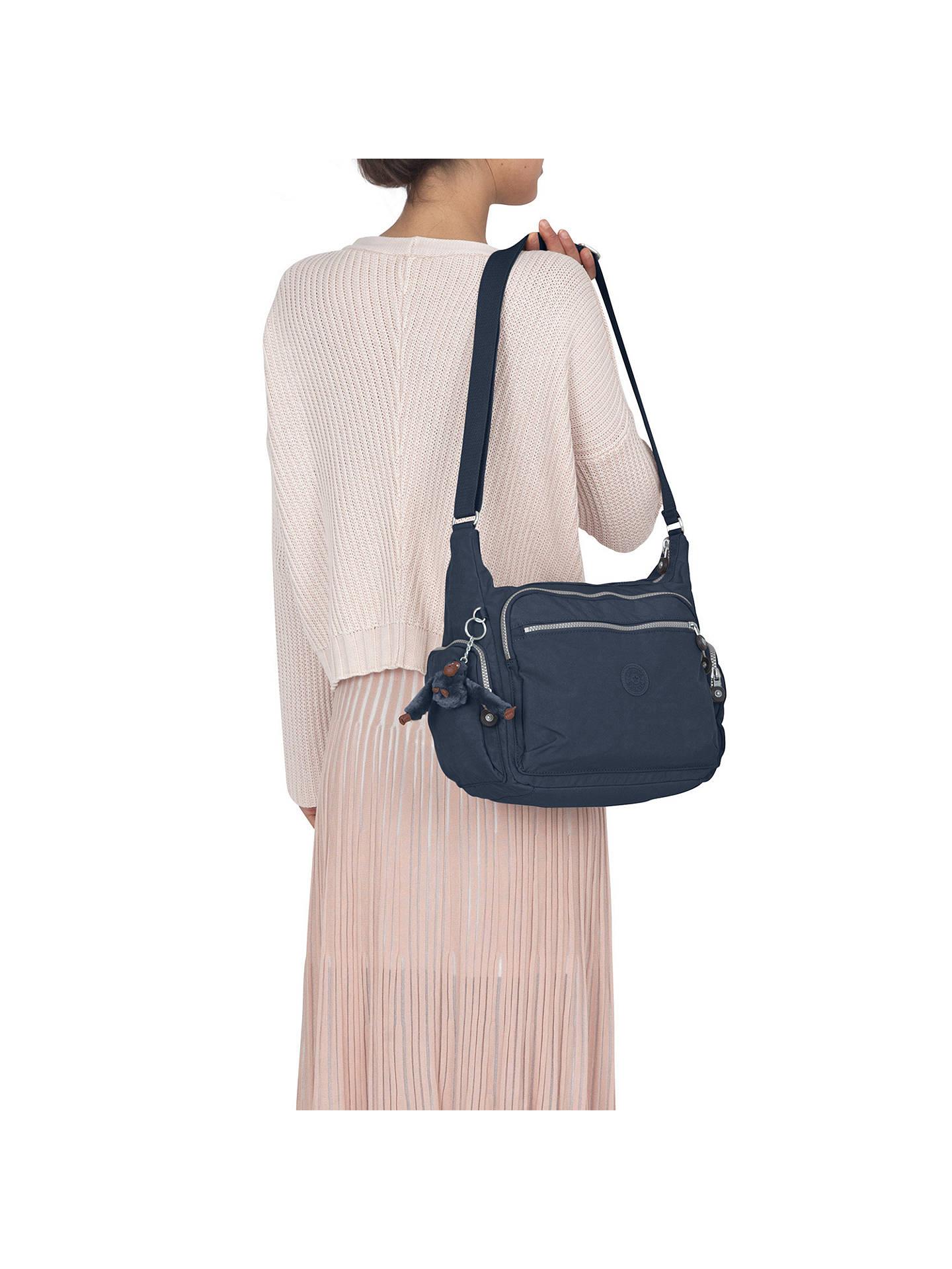265d9aca17 ... Buy Kipling Gabbie Medium Shoulder Bag, True Blue Online at  johnlewis.com
