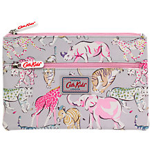 Buy Cath Kids Children's Safari Animal Pencil Case, Grey/Pink Online at johnlewis.com