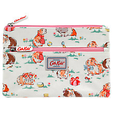 Buy Cath Kids Children's Pet Party Double Zip Pencil Case, White/Pink Online at johnlewis.com
