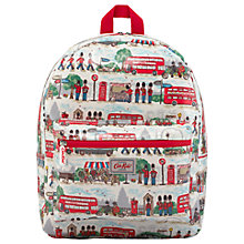 Buy Cath Kids Children's London Streets Print Rucksack, Red/Blue Online at johnlewis.com