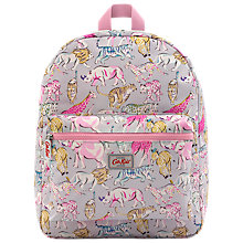 Buy Cath Kids Children's Safari Animal Print Rucksack, Pastel Online at johnlewis.com