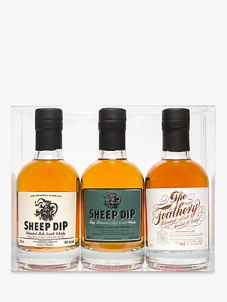 Sheep Dip and the Feathery Blended Malt Scotch Whisky Gift Set, Set of 3, 20cl