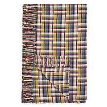 Buy John Lewis Country Check Throw, Multi Online at johnlewis.com