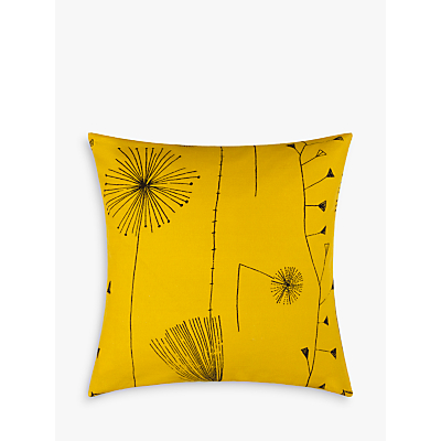 Lucienne Day Dandelion Clocks Cushion, Mustard