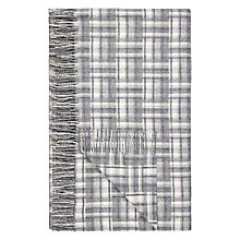 Buy John Lewis Country Check Throw, Grey Online at johnlewis.com