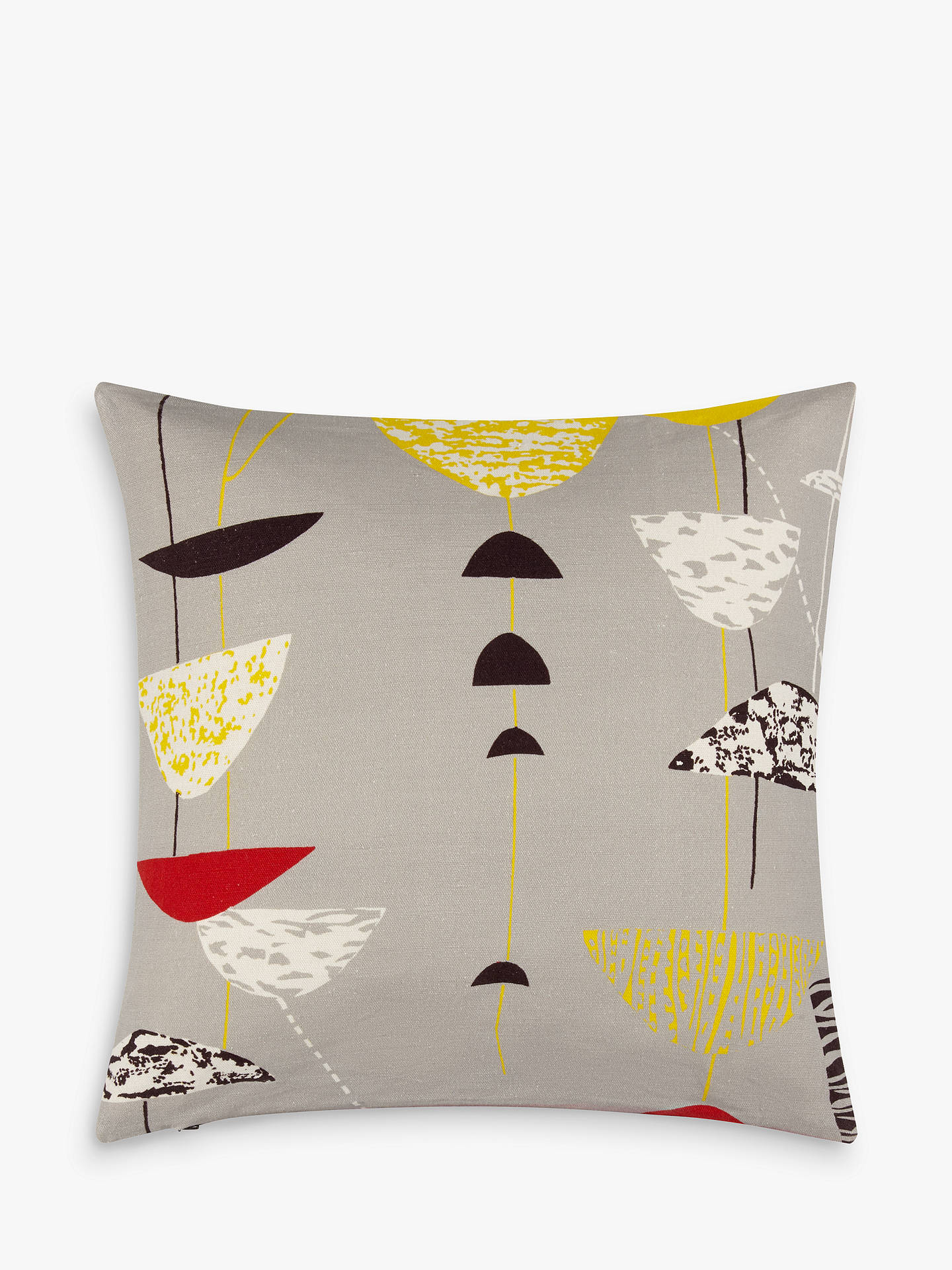 BuyLucienne Day Calyx Cushion, Grey Online at johnlewis.com