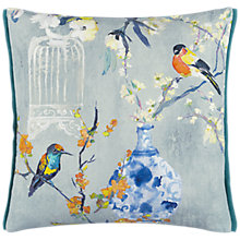 Buy Designers Guild Istoriato Cushion, Zinc Online at johnlewis.com