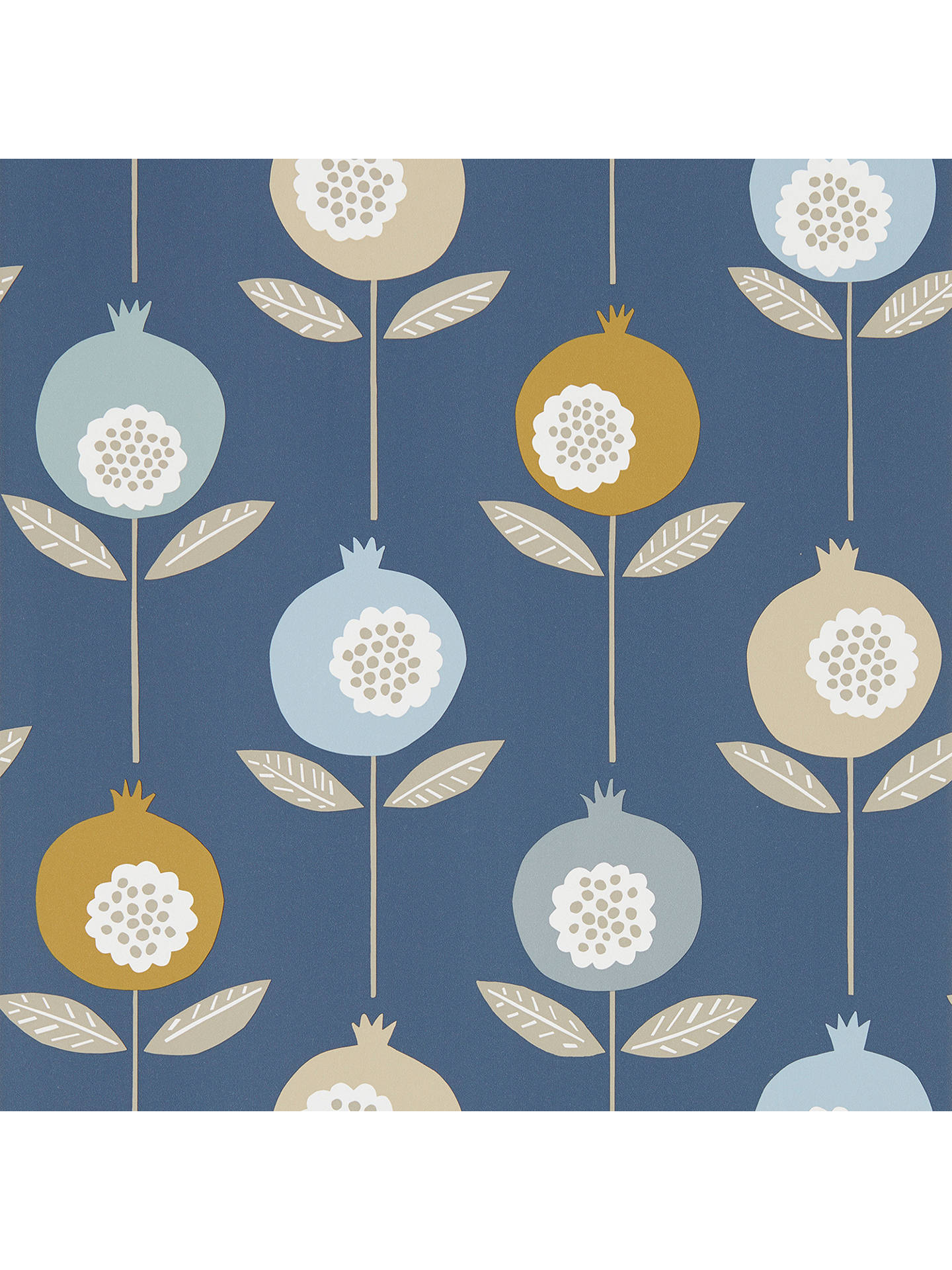 BuyScion Pepino Wallpaper Sky / Cinnamon / Ink, 111543 Online at johnlewis.com