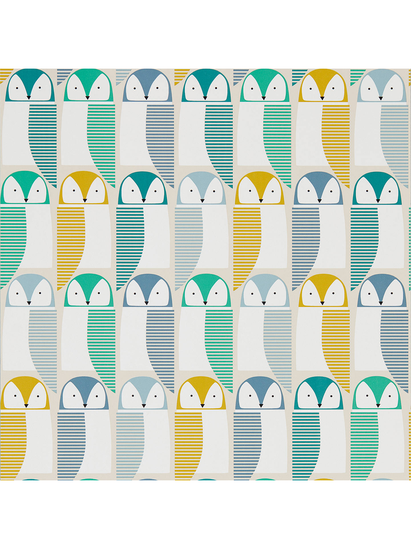 Buy Scion Barney Owl Wallpaper Jade / Sunshine, 111517 Online at johnlewis.com