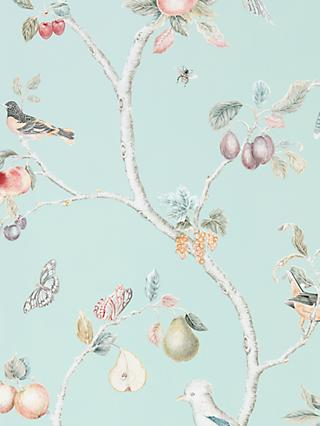 Sanderson Fruit Aviary Wallpaper