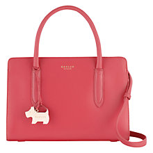 Buy Radley Liverpool Street Leather Medium Grab Bag, Pink Online at johnlewis.com