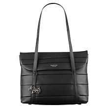 Buy Radley Berwick Street Leather Tote Bag, Black Online at johnlewis.com
