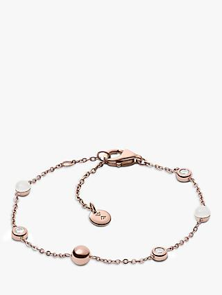 Skagen Seaglass Chain Bracelet, Rose Gold SKJ0971791