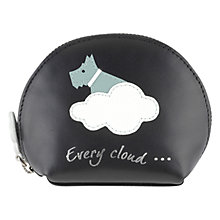 Buy Radley Silver Lining Leather Coin Purse, Black Online at johnlewis.com