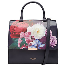 Buy Ted Baker Arinna Blushing Bouquet Leather Shoulder Bag, Navy Online at johnlewis.com